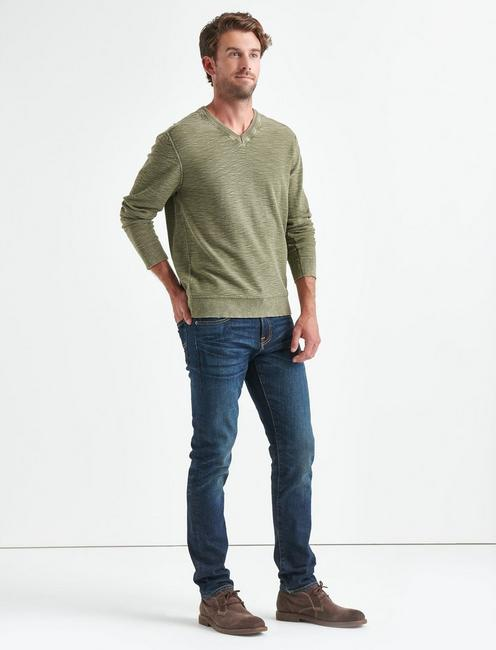 WELTER WEIGHT WASHED V-NECK, IVY GREEN