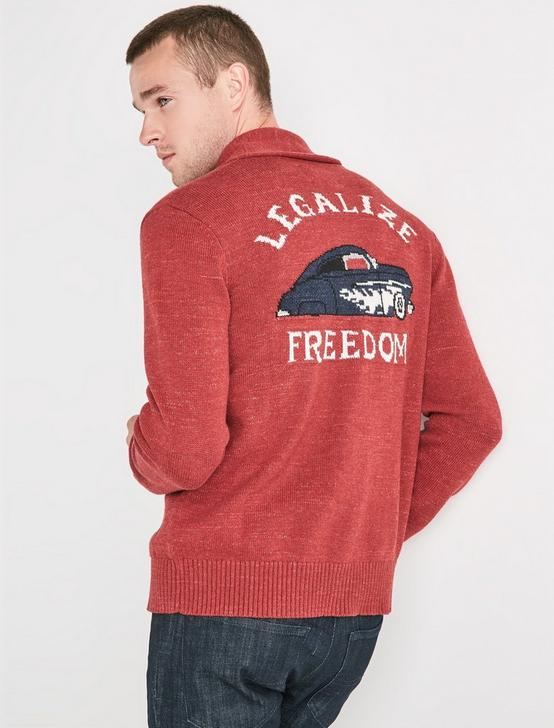 LEGALIZE FREEDOM GRAPHIC SHAWL, RED MULTI, productTileDesktop