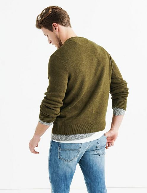 JEEP GRILL SWEATER, HEATHER OLIVE