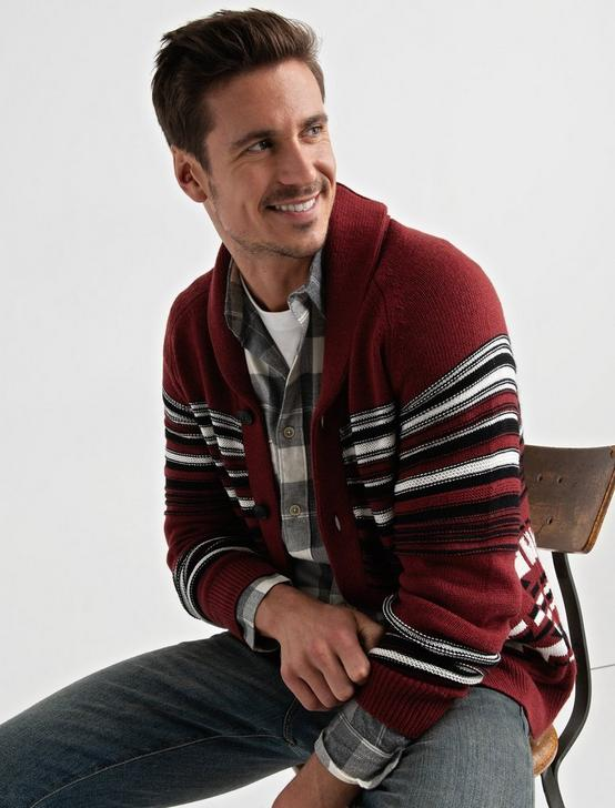CARDIGAN, RED MULTI, productTileDesktop