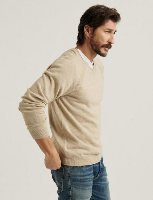 WELTER WEIGHT V-NECK, OATMEAL