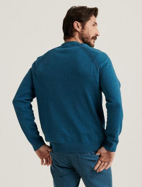 WELTER WEIGHT V-NECK SWEATER, HEATHER INDIAN TEAL