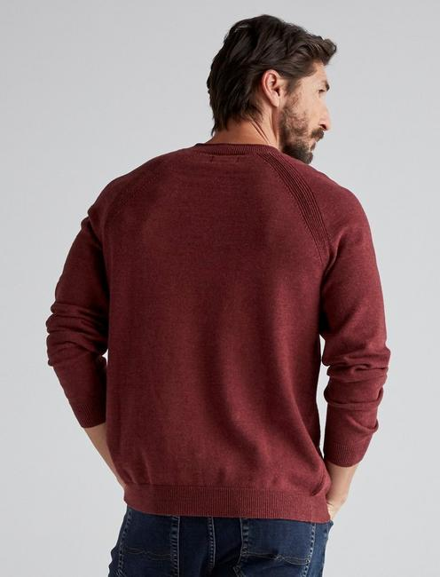 WELTER WEIGHT V-NECK, HEATHER BURGUNDY