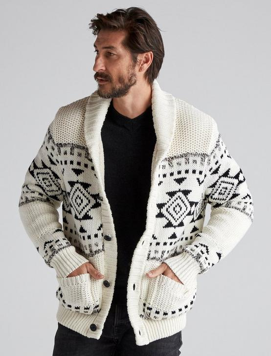SHERPA-LINED SHAWL CARDIGAN, MULTI, productTileDesktop