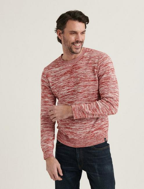 SPACEDYE CREW NECK, 636 RED