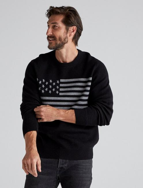 USA FLAG NOVELTY CREW, #001 BLACK