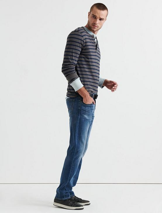 STRIPED COTTON HENLEY, MULTI, productTileDesktop