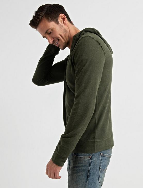 TEXTURED TERRY HOODY, IVY GREEN, productTileDesktop