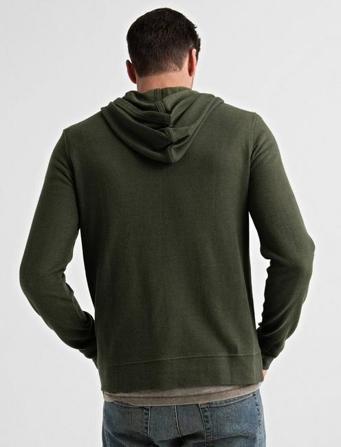 TEXTURED TERRY HOODY, IVY GREEN