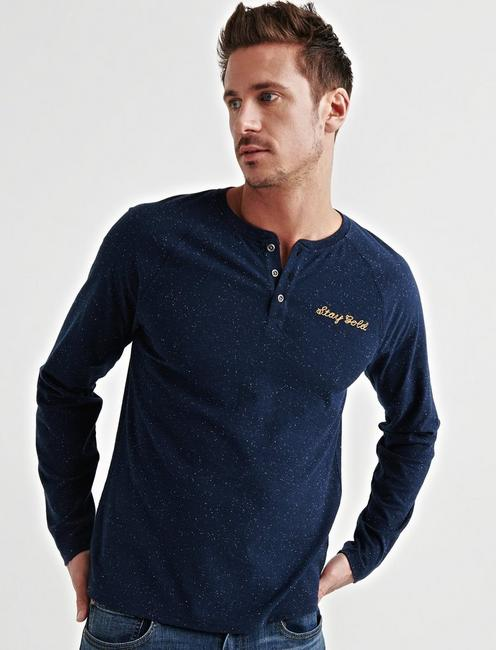STAY GOLD SNOW HEATHER HENLEY,