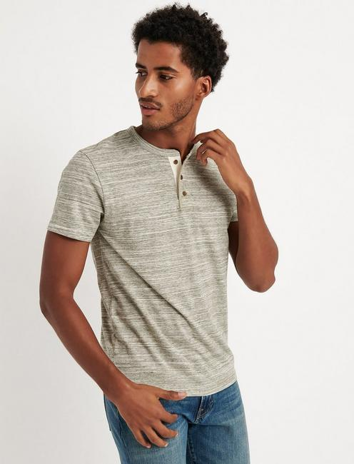 Short Sleeve Spacedye Henley