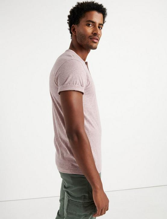 SHORT SLEEVE TRIBLEND HENLEY, MAUVE, productTileDesktop