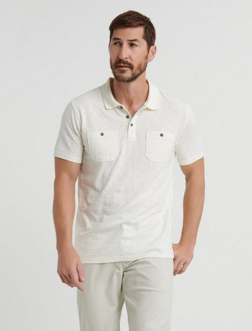 MILITARY POLO, MARSHMALLOW