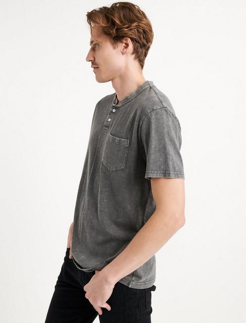 Sugar Magic Henley Shirt, RAVEN
