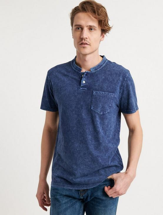 Sugar Magic Henley Shirt, ESTATE BLUE, productTileDesktop