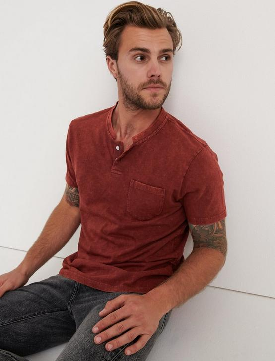 Sugar Magic Henley Shirt, ANDORRA RED, productTileDesktop