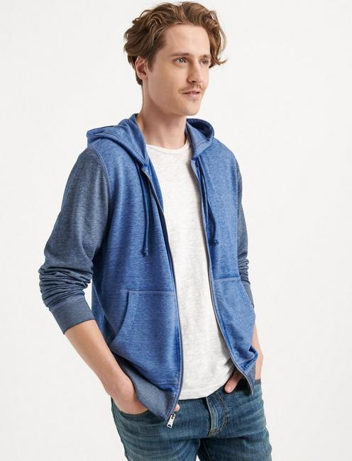 VENICE BURNOUT COLORBLOCK HOODIE, NAVY MULTI