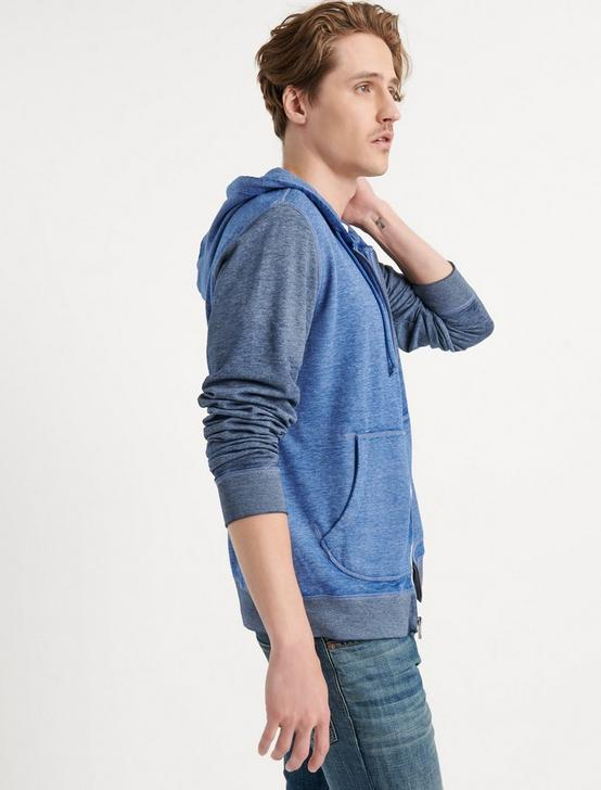 VENICE BURNOUT COLORBLOCK HOODIE, NAVY MULTI, productTileDesktop