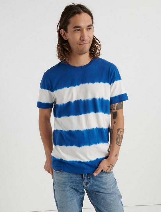 Tie Dye Stripe Crew Neck Tee, MULTI, productTileDesktop