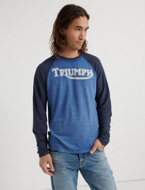 Triumph Microterry Raglan Tee, NAVY MULTI