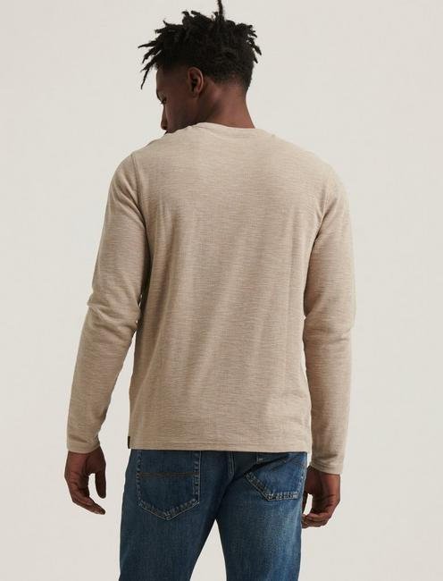 LONG SLEEVE CREW NECK POCKET THERMAL, OATMEAL