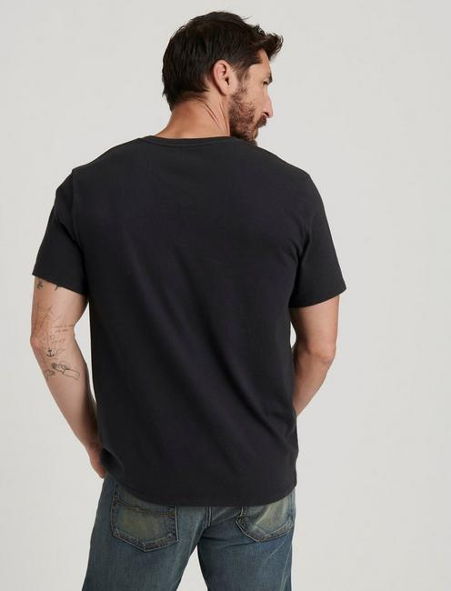 SUNSET V-NECK TEE, JET BLACK