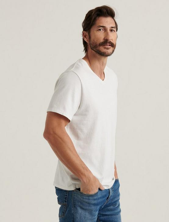 SUNSET V-NECK TEE, BRIGHT WHITE, productTileDesktop