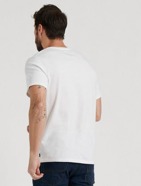 SUNSET V-NECK TEE, BRIGHT WHITE