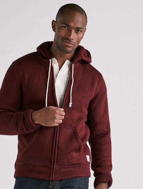 FULL ZIP HOODIE, TAWNY PORT HEATHER, productTileDesktop