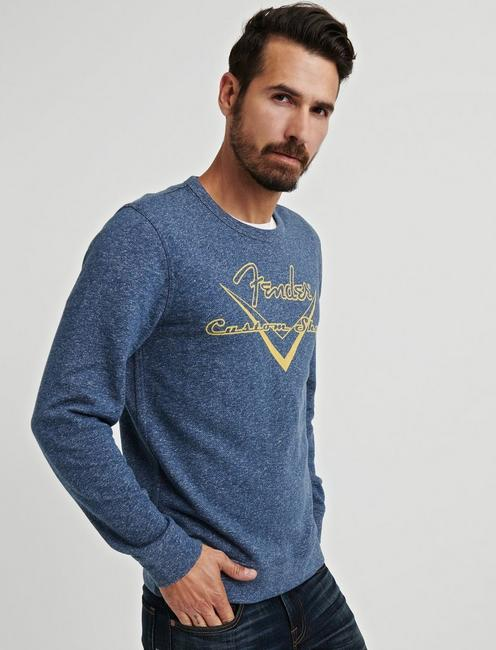 FENDER SWEATSHIRT, HEATHER NAVY