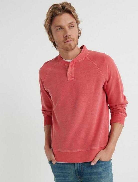 REVERSE FRENCH T HENLEY, MINERAL RED, productTileDesktop