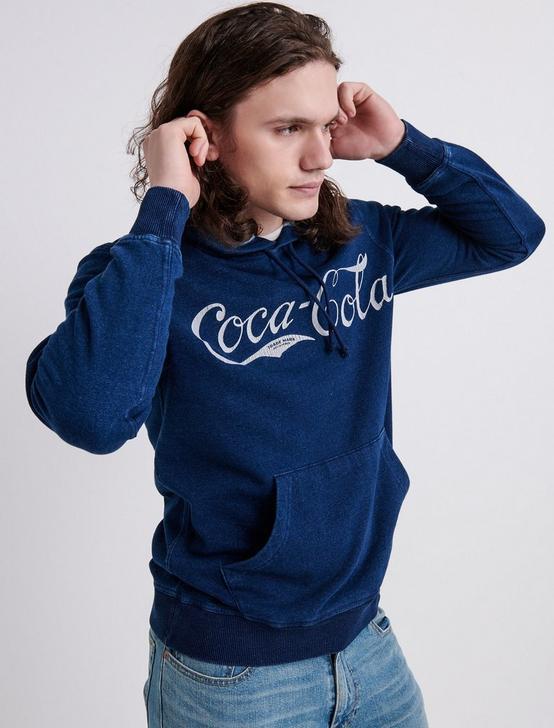 COCA COLA HOODIE, # 419 INDIGO, productTileDesktop