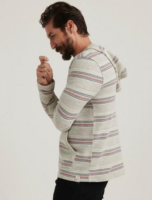 French Terry Stripe Baja, GREY MULTI