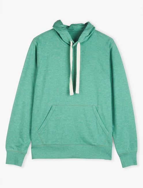 TRIBLEND FRENCH TERRY HOODIE, CREME DE MENTHE