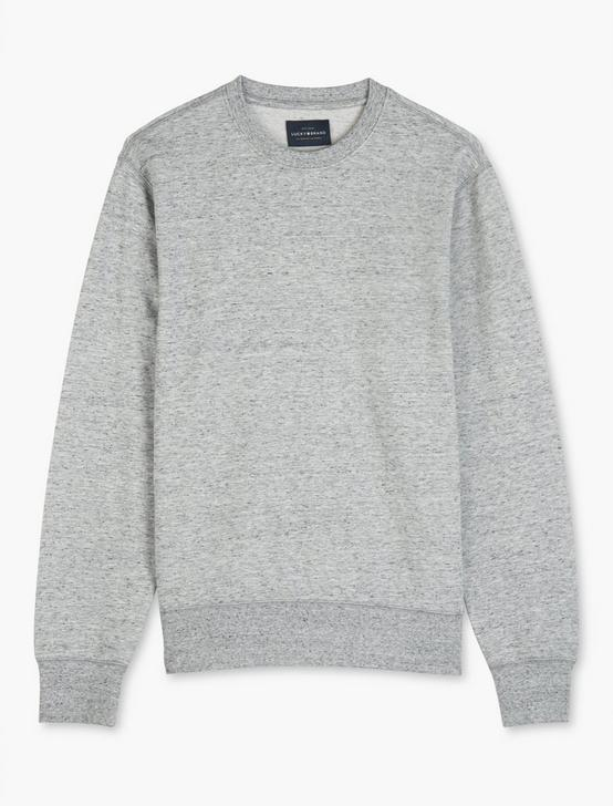 TRIBLEND FRENCH TERRY CREW NECK SWEATSHIRT, HEATHER GREY, productTileDesktop