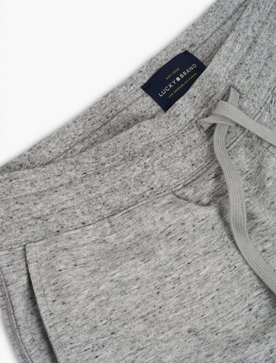TRIBLEND FRENCH TERRY SHORTS, HEATHER GREY, productTileDesktop