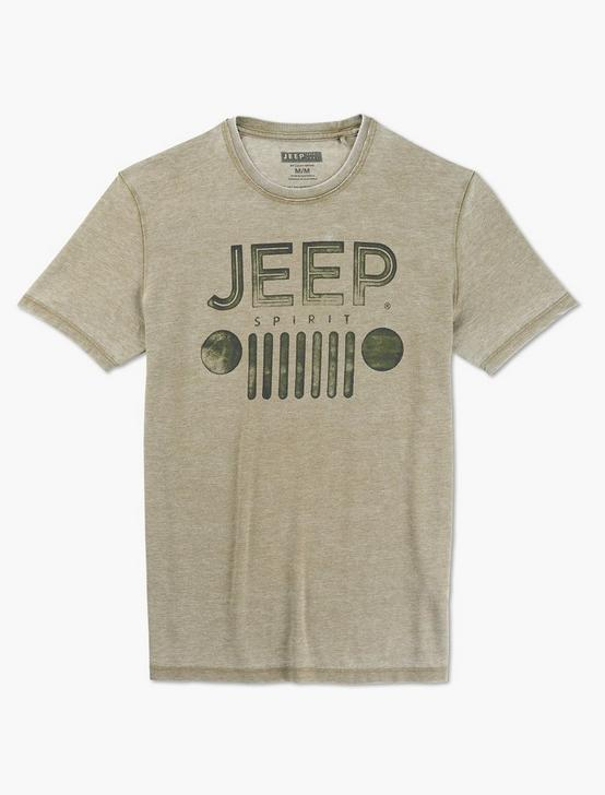 JEEP SPIRIT GRILL TEE, DARK OLIVE, productTileDesktop
