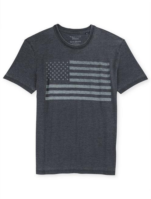 USA FLAG, JET BLACK