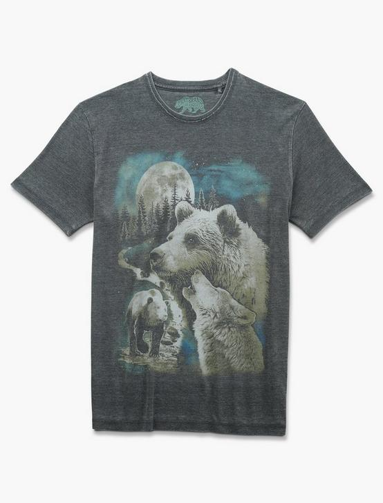 MAGIC FOREST ANIMALS TEE, JET BLACK, productTileDesktop