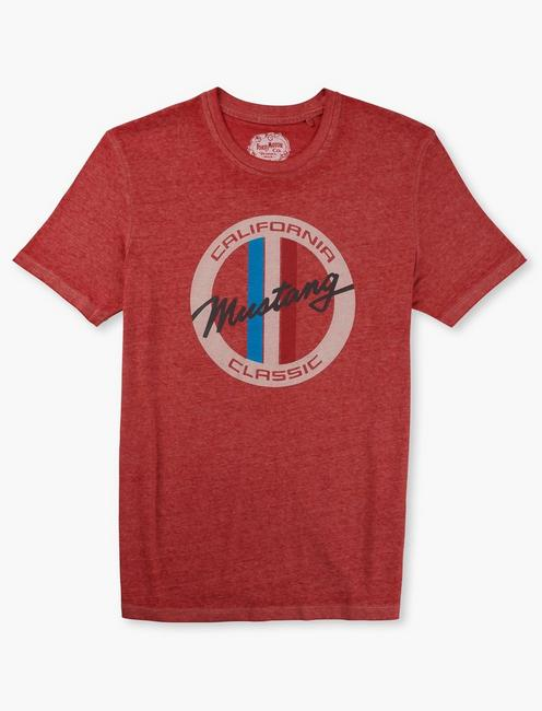 SLANTED MUSTANG TEE, POMPEIAN RED