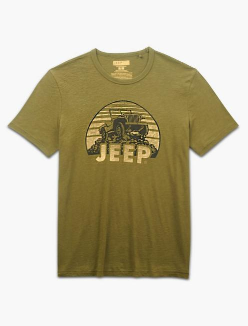 JEEP ON THE ROCKS TEE, DARK OLIVE