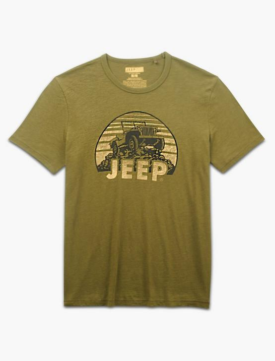 JEEP ON THE ROCKS TEE, DARK OLIVE, productTileDesktop