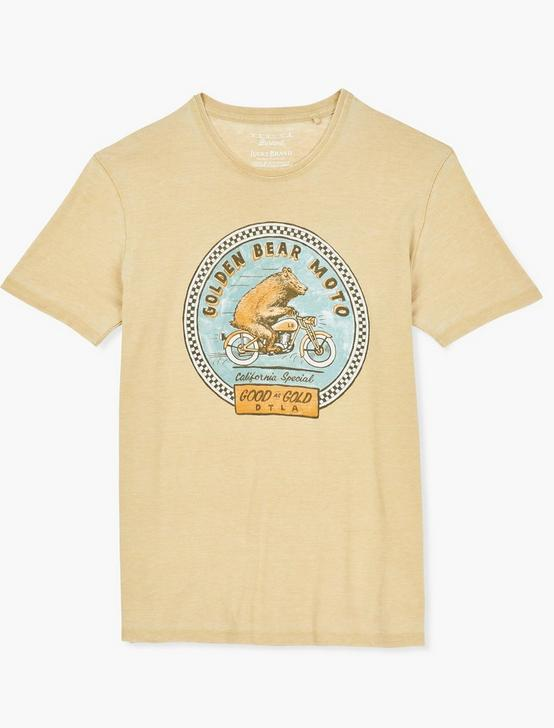 GOLDEN BEAR MOTO TEE, DUSTY GOLD, productTileDesktop