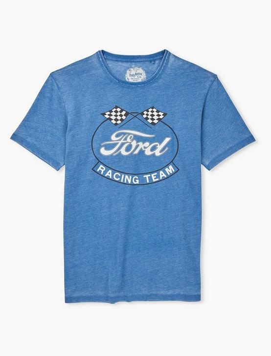 FORD OVAL FLAGS TEE, MONACO BLUE, productTileDesktop