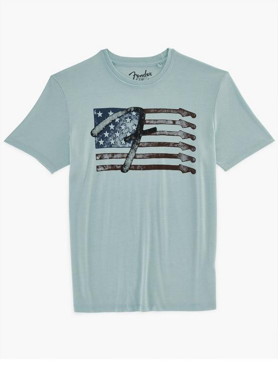 FENDER STAR FLAG TEE, SPRING BLUE #4982, productTileDesktop