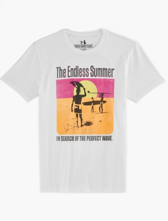ENDLESS SUMMER POSTER TEE, BRIGHT WHITE, productTileDesktop