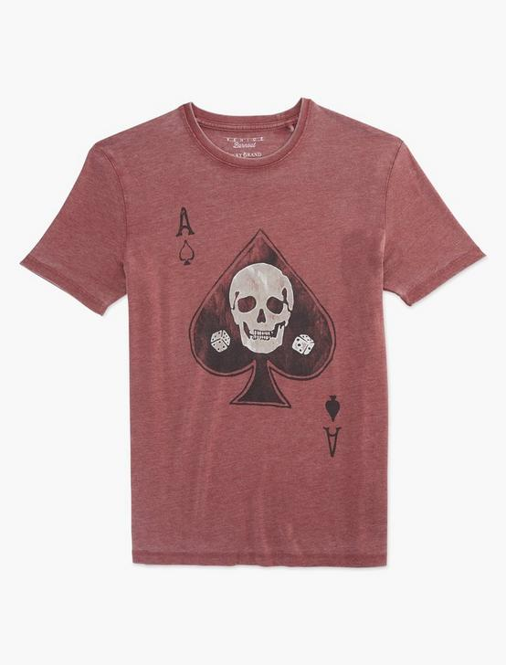 ACE OF SPADES SKULL TEE, RUSSET BROWN, productTileDesktop