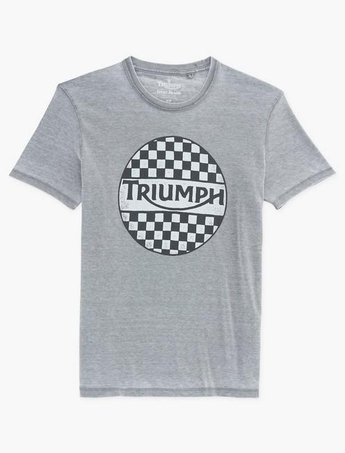 CHECKER TRIUMPH TEE, FROST GRAY