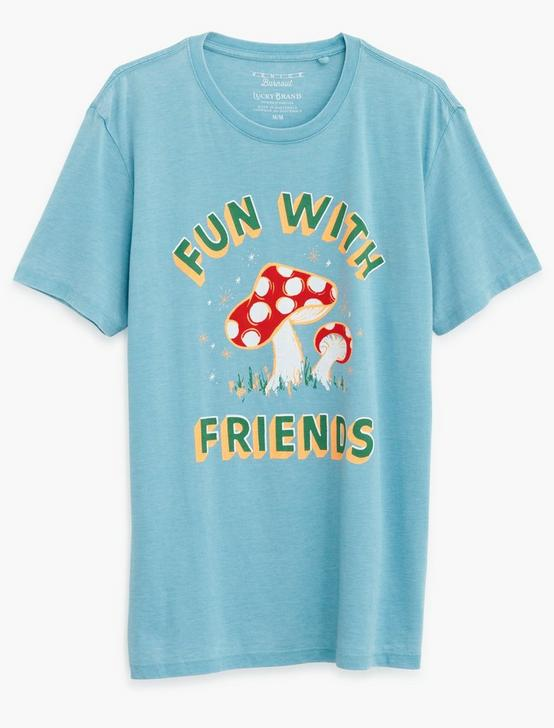 FUN SHROOMS TEE, DELPHINIUM BLUE, productTileDesktop