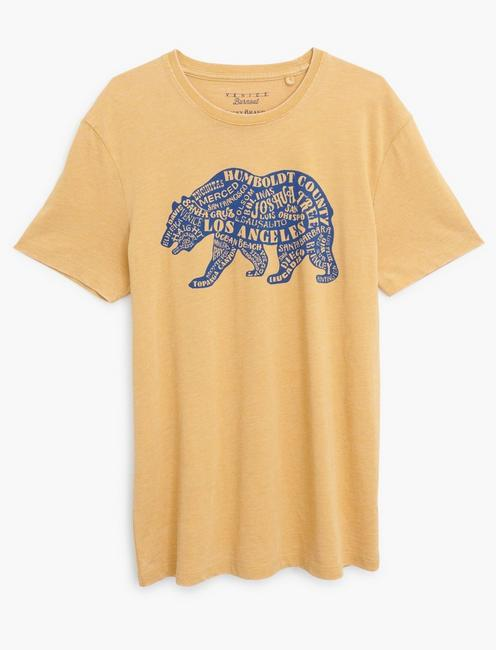 CALIFORNIA CITY BEAR TEE, DUSTY GOLD